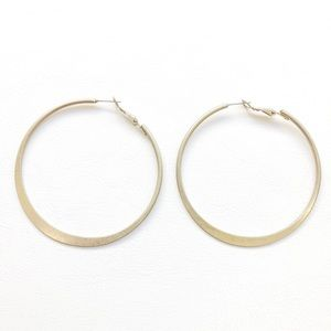 Jewelry - Brushed Gold Hoop Earring